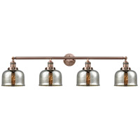 Innovations Lighting 215-AC-G78 Large Bell 4 Light 45 inch Antique Copper Bath Vanity Light Wall Light Franklin Restoration