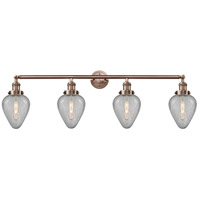 Innovations Lighting 215-AC-S-G165-LED Geneseo LED 43 inch Antique Copper Bath Vanity Light Wall Light, Franklin Restoration