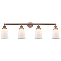 Innovations Lighting 215-AC-S-G181 Canton 4 Light 42 inch Antique Copper Bath Vanity Light Wall Light Franklin Restoration