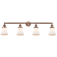 Innovations Lighting 215-AC-S-G191 Bellmont 4 Light 42 inch Antique Copper Bath Vanity Light Wall Light Franklin Restoration