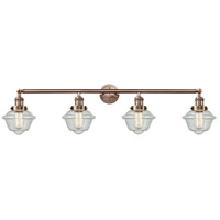 Innovations Lighting 215-AC-S-G534-LED Small Oxford LED 46 inch Antique Copper Bath Vanity Light Wall Light Franklin Restoration