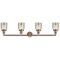Innovations Lighting 215-AC-S-G58-LED Small Bell LED 43 inch Antique Copper Bath Vanity Light Wall Light, Franklin Restoration alternative photo thumbnail