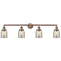 Innovations Lighting 215-AC-S-G58-LED Small Bell LED 43 inch Antique Copper Bath Vanity Light Wall Light, Franklin Restoration photo thumbnail