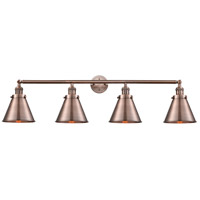 Innovations Lighting 215-AC-S-M13-AC Appalachian 4 Light 44 inch Antique Copper Bath Vanity Light Wall Light Franklin Restoration