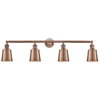 Innovations Lighting 215-AC-S-M9-AC Addison 4 Light 42 inch Antique Copper Bath Vanity Light Wall Light Franklin Restoration