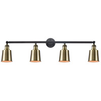 Innovations Lighting 215-BAB-S-M9-AB Addison 4 Light 42 inch Black Antique Brass Bath Vanity Light Wall Light Franklin Restoration
