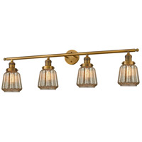 Innovations Lighting 215-BB-S-G146 Chatham 4 Light 42 inch Brushed Brass Bathroom Fixture Wall Light Adjustable