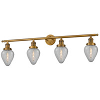 Geneseo 4 Light 43 inch Brushed Brass Bathroom Fixture Wall Light, Adjustable