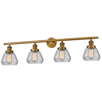 Innovations Lighting 215-BB-S-G172 Fulton 4 Light 43 inch Brushed Brass Bathroom Fixture Wall Light Adjustable