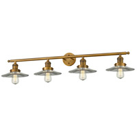 Innovations Lighting 215-BB-S-G2-LED Halophane LED 45 inch Brushed Brass Bathroom Fixture Wall Light Adjustable