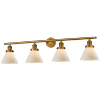Innovations Lighting 215-BB-S-G41 Large Cone 4 Light 44 inch Brushed Brass Bathroom Fixture Wall Light Adjustable
