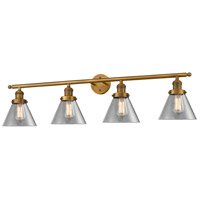 Innovations Lighting 215-BB-G42-LED Large Cone LED 44 inch Brushed Brass Bathroom Fixture Wall Light