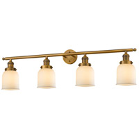 Innovations Lighting 215-BB-S-G51-LED Small Bell LED 42 inch Brushed Brass Bathroom Fixture Wall Light Adjustable