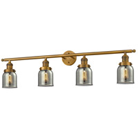 Innovations Lighting 215-BB-S-G53-LED Small Bell LED 42 inch Brushed Brass Bathroom Fixture Wall Light Adjustable