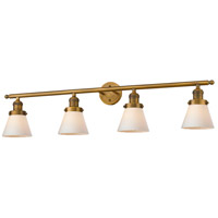 Innovations Lighting 215-BB-S-G61-LED Small Cone LED 42 inch Brushed Brass Bathroom Fixture Wall Light Adjustable