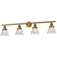 Innovations Lighting 215-BB-G62-LED Small Cone LED 42 inch Brushed Brass Bathroom Fixture Wall Light