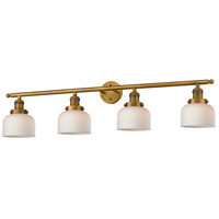 Innovations Lighting 215-BB-S-G71 Large Bell 4 Light 44 inch Brushed Brass Bathroom Fixture Wall Light Adjustable