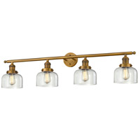 Innovations Lighting 215-BB-G72-LED Large Bell LED 44 inch Brushed Brass Bathroom Fixture Wall Light