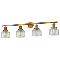 Innovations Lighting 215-BB-G74-LED Large Bell LED 44 inch Brushed Brass Bathroom Fixture Wall Light