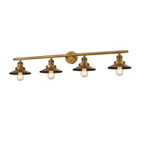 Innovations Lighting 215-BB--S-M4-LED Railroad LED 44 inch Brushed Brass Bathroom Fixture Wall Light Adjustable