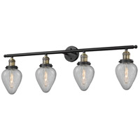 Geneseo 4 Light 42 inch Black and Brushed Brass Vanity Light Wall Light