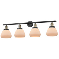 Fulton 4 Light 42 inch Black and Brushed Brass Vanity Light Wall Light