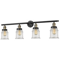 Canton 4 Light 42 inch Black and Brushed Brass Vanity Light Wall Light