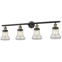 Bellmont 4 Light 42 inch Black and Brushed Brass Vanity Light Wall Light