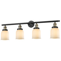Innovations Lighting 215-BBB-S-G51 Small Bell 4 Light 42 inch Black Brushed Brass Bathroom Fixture Wall Light, Adjustable photo thumbnail