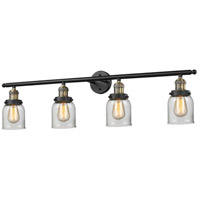 Innovations Lighting 215-BBB-G52 Signature 4 Light 42 inch Black and Brushed Brass Vanity Light Wall Light, Small, Bell photo thumbnail
