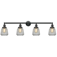 Innovations Lighting 215-BK-G142-LED Chatham LED 42 inch Matte Black Bath Vanity Light Wall Light Franklin Restoration