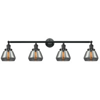 Innovations Lighting 215-BK-G173-LED Fulton LED 43 inch Matte Black Bath Vanity Light Wall Light Franklin Restoration