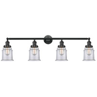 Innovations Lighting 215-BK-G182-LED Canton LED 42 inch Matte Black Bath Vanity Light Wall Light Franklin Restoration