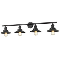 Railroad 4 Light 44 inch Oil Rubbed Bronze Bathroom Fixture Wall Light, Adjustable