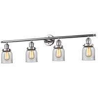 Innovations Lighting 215-PC-S-G52-LED Small Bell LED 42 inch Polished Chrome Bath Vanity Light Wall Light, Franklin Restoration photo thumbnail