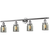Innovations Lighting 215-PC-S-G53-LED Small Bell LED 42 inch Polished Chrome Bath Vanity Light Wall Light, Franklin Restoration photo thumbnail