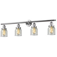 Innovations Lighting 215-PC-S-G54 Small Bell 4 Light 42 inch Polished Chrome Bath Vanity Light Wall Light, Franklin Restoration photo thumbnail