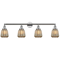 Innovations Lighting 215-PC-S-G146 Chatham 4 Light 42 inch Polished Chrome Bath Vanity Light Wall Light Franklin Restoration
