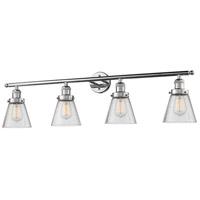 Innovations Lighting 215-PN-G64 Signature 4 Light 42 inch Polished Nickel Vanity Light Wall Light Small Cone