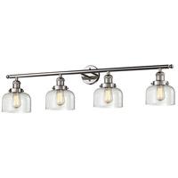 Innovations Lighting 215-PN-G72 Signature 4 Light 44 inch Polished Nickel Vanity Light Wall Light Large Bell