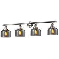 Innovations Lighting 215-PN-G73 Signature 4 Light 44 inch Polished Nickel Vanity Light Wall Light Large Bell