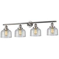 Innovations Lighting 215-PN-G74 Signature 4 Light 44 inch Polished Nickel Vanity Light Wall Light Large Bell