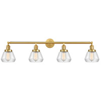 Innovations Lighting 215-SG-G172-LED Fulton LED 43 inch Satin Gold Bath Vanity Light Wall Light Franklin Restoration