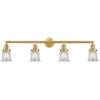 Innovations Lighting 215-SG-G182S Small Canton 4 Light 42 inch Satin Gold Bath Vanity Light Wall Light Franklin Restoration