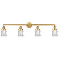 Innovations Lighting 215-SG-G184S Small Canton 4 Light 42 inch Satin Gold Bath Vanity Light Wall Light Franklin Restoration