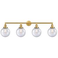 Innovations Lighting 215-SG-G204-8-LED Large Beacon LED 44 inch Satin Gold Bath Vanity Light Wall Light Franklin Restoration