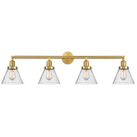 Innovations Lighting 215-SG-G44-LED Large Cone LED 44 inch Satin Gold Bath Vanity Light Wall Light Franklin Restoration