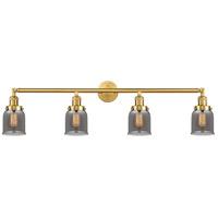 Innovations Lighting 215-SG-G53-LED Small Bell LED 42 inch Satin Gold Bath Vanity Light Wall Light Franklin Restoration