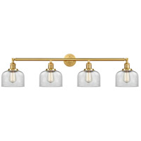 Innovations Lighting 215-SG-G72 Large Bell 4 Light 44 inch Satin Gold Bath Vanity Light Wall Light Franklin Restoration