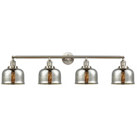 Innovations Lighting 215-SN-S-G78-LED Large Bell LED 45 inch Satin Nickel Bath Vanity Light Wall Light Franklin Restoration